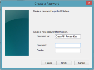 Strong key protection password